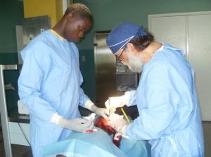 Dr. Riitano and one of his assistants Villare