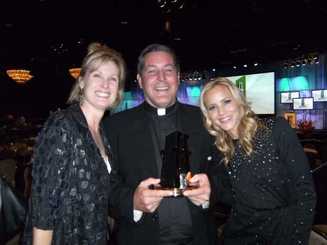 Debbie Haggid, Father Rick, Maria Bello_small
